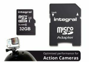Integral memory card